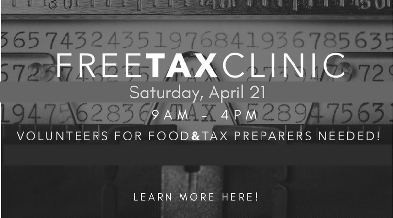 Free Tax Clinic – April 21, 2018