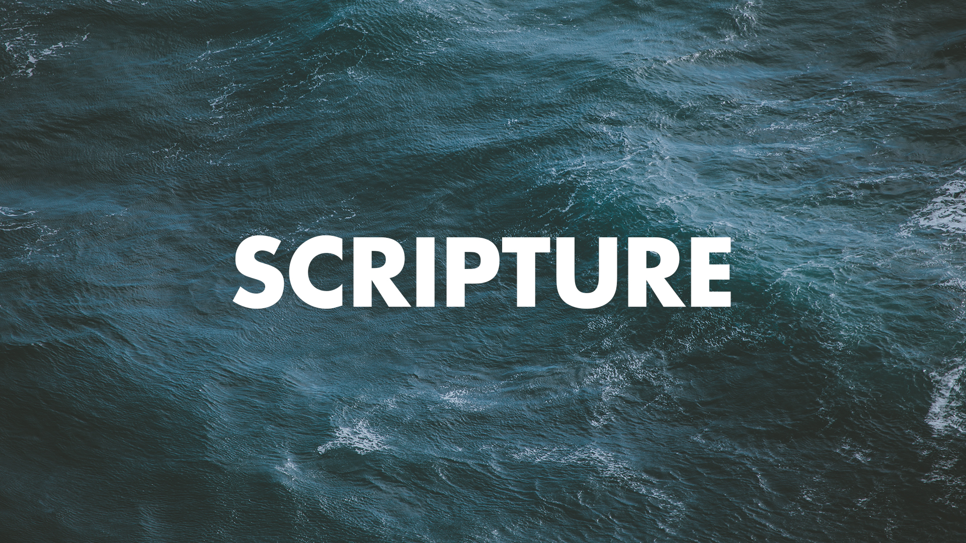 The Well – Scripture